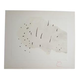 One Lithograph from the Series, Trace on the Water, by Joan Miro