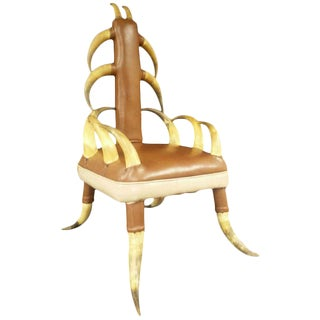 Vintage Steer Horn Parlor Chair