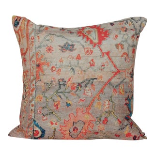 Vintage Multi-Colored Print Pillow Cover