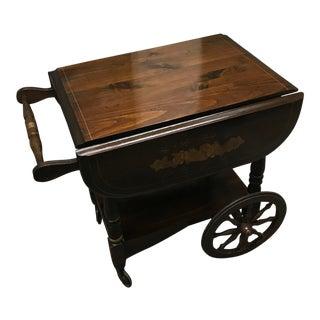 Antique Solid Wood Butler Beverage Cart