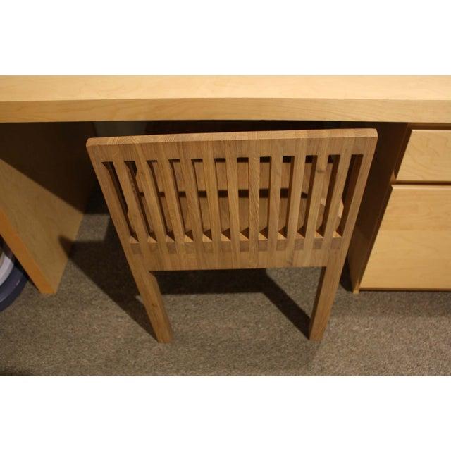 Natural Oak Slat Back Accent Chair - Image 5 of 6