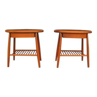 Mid-Century Wood Nightstands - Pair