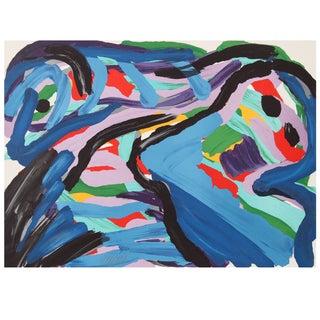 """Karel Appel """"Floating in a Landscape"""" Lithograph"""
