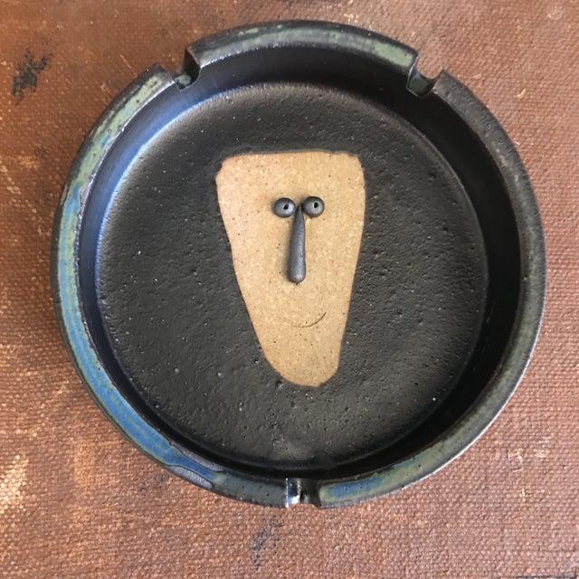 Japanese Stoneware Face Ashtrays - A Pair - Image 4 of 9