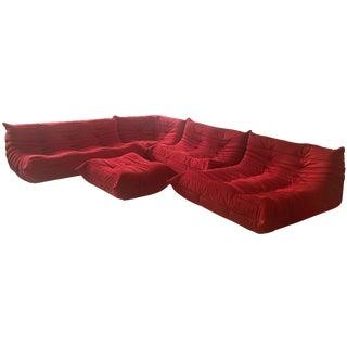 Ligne Roset Red Togo Sofa