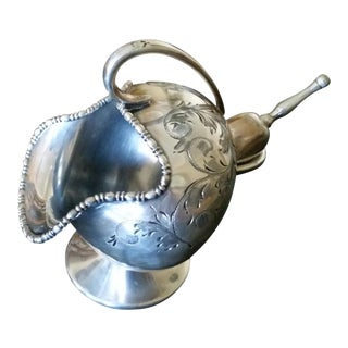 "Antique Silver Plate Sugar ""Scuttle"""