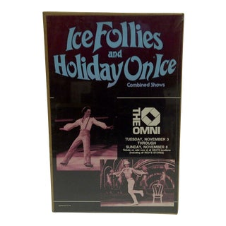 """1981 Vintage """"Ice Follies & Holiday on Ice"""" Poster"""