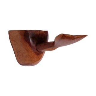 Hand Carved Wooden Whale Tail Shelf & Hook