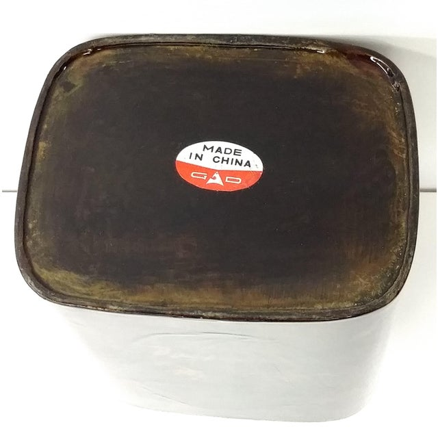 Lacquerware Tea Caddy Chinese Collectible Art - Image 6 of 7