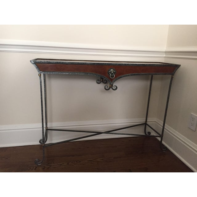 Gilded Iron Console - Image 2 of 6