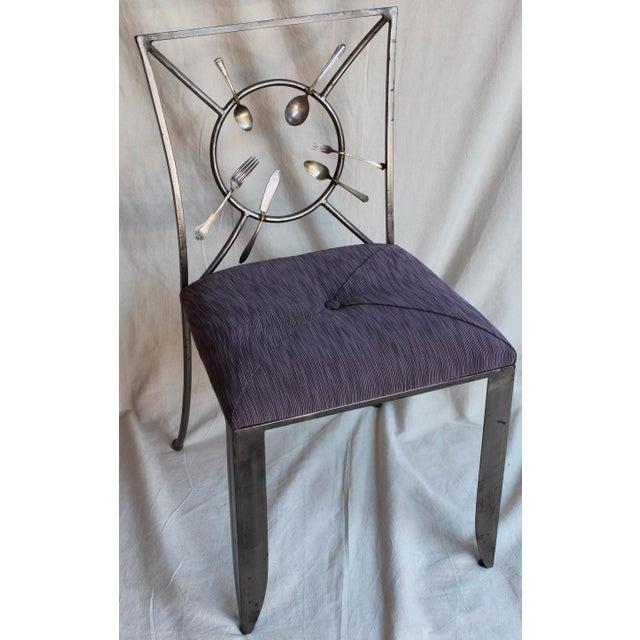"Randall Kramer ""Silverware"" Chairs - A Pair - Image 5 of 8"
