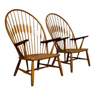 "Pair of ""Peacock"" Chairs by Hans Wegner for Johannes Hansen"