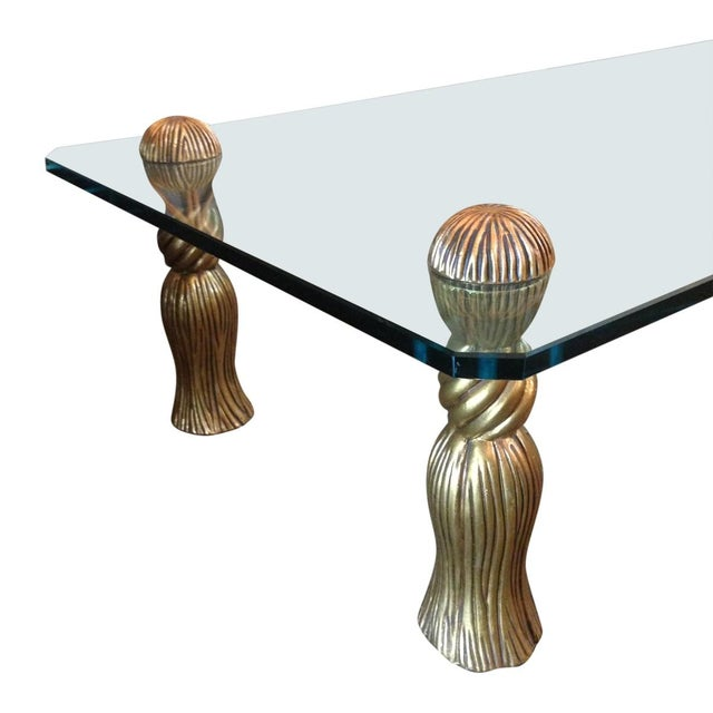 Image of Phyllis Morris Gold Tassel Coffee Table