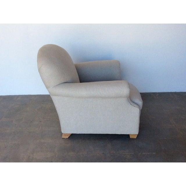 vintage natural linen club chair chairish