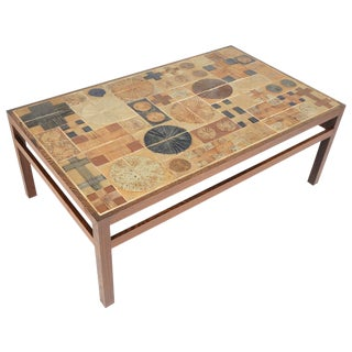 Tue Poulsen Ceramic Tile Coffee Table