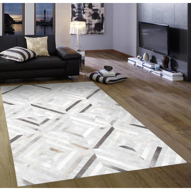 Pasargad Custom Made Cowhide Rug- 4' X 6' - Image 3 of 4