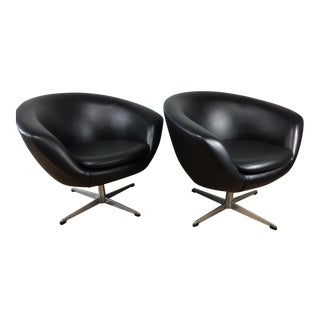 Overman Swivel Pod Chairs - A Pair