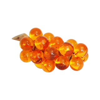 Vintage Amber Lucite Grape Cluster