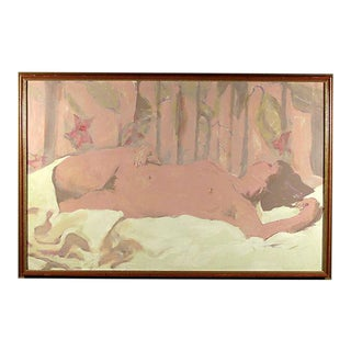 "Original ""Starflower Dream"" Sleeping Nude Oil Painting"