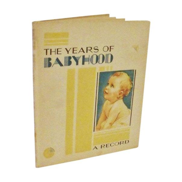 Art Deco Baby Book - The Years of Babyhood Unused - Image 1 of 5
