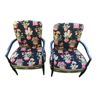 Vintage Neoclassical Accent Chairs - A Pair