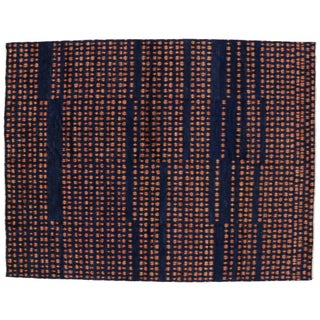 Contemporary Moroccan Style Blue Area Rug - 10'2 x 13'