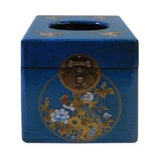 Chinese Blue Container or Tissue Box