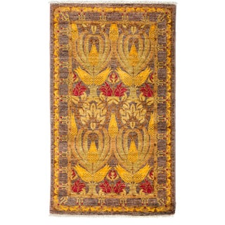 "Arts & Crafts Hand-Knotted Rug 3' 0""x5' 0"""