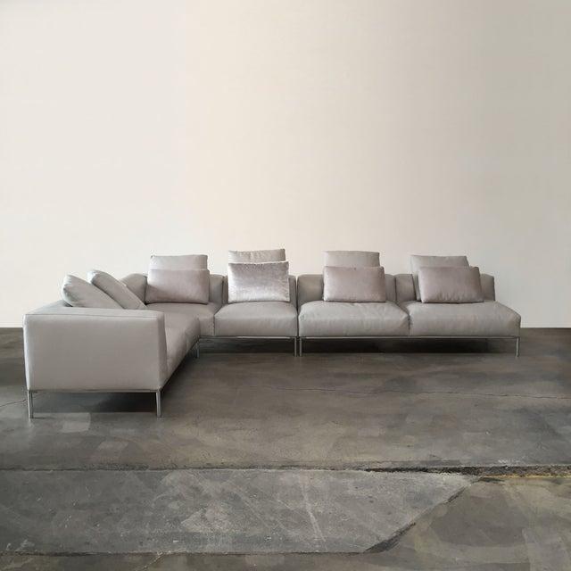 B&B Italia 'Frank' Leather Sectional - Image 3 of 8