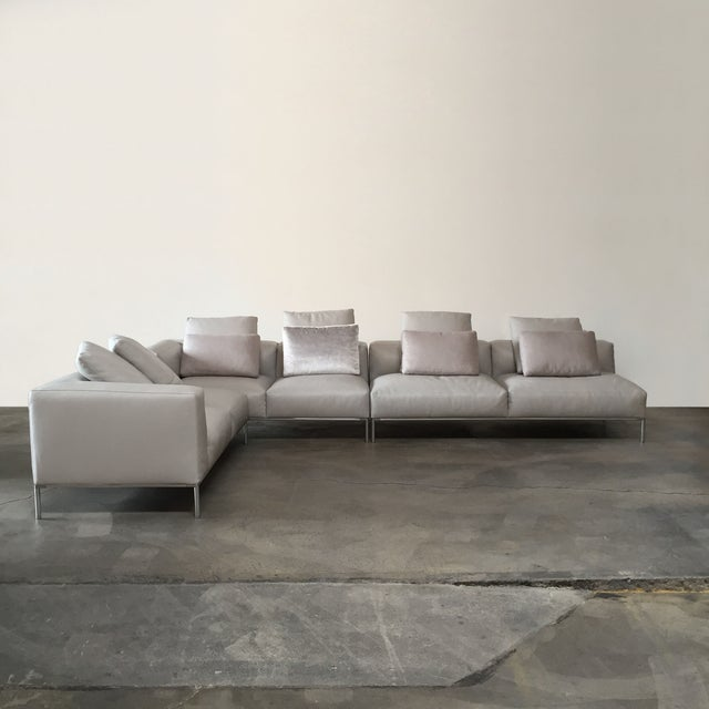 Image of B&B Italia 'Frank' Leather Sectional