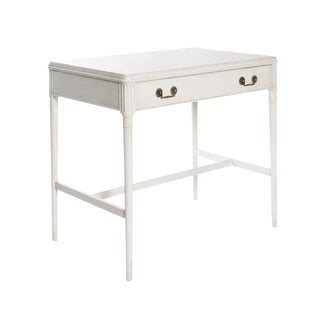 1940s Newly Refinished White Painted Writing Desk/ Vanity by Widdicomb