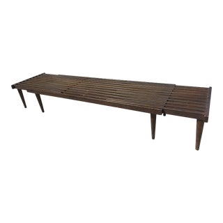 Mid-Century Slatted Expandable Coffee Table