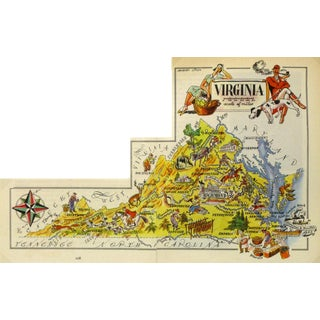 Virginia Pictorial Map, 1946