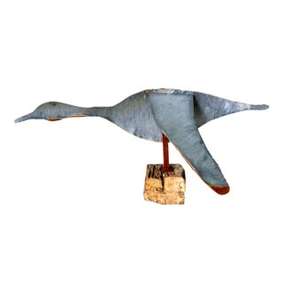 Reclaimed Metal Bird Sculpture