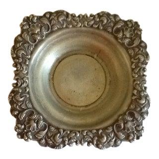 Vintage Rococo Pewter Tray or Bowl