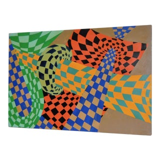 Vintage Op-Art Painting