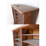Image of Vintage 1950s Wooden Pie Storage Crate Box