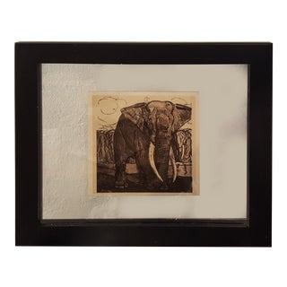 """Vintage sketch of an elephant from a Book """"Peinture & dessins de Paul Jouve"""""""