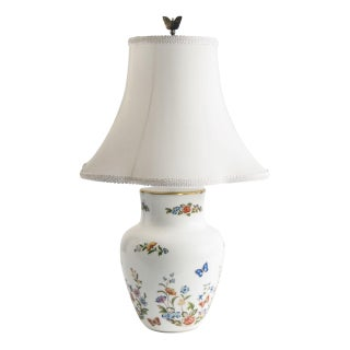Hand Painted Butterfly Table Lamp