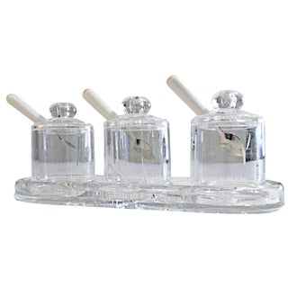 Lucite Condiment Set