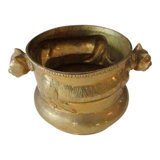 Hollywood Regency Panther Brass Planter