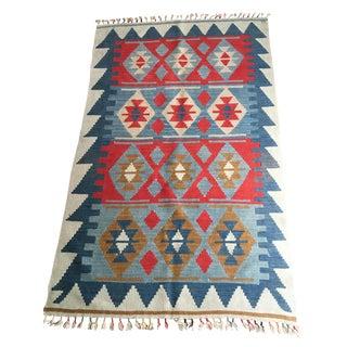 Vintage Anatolian Kilim Rug - 3′6″ × 5′7″