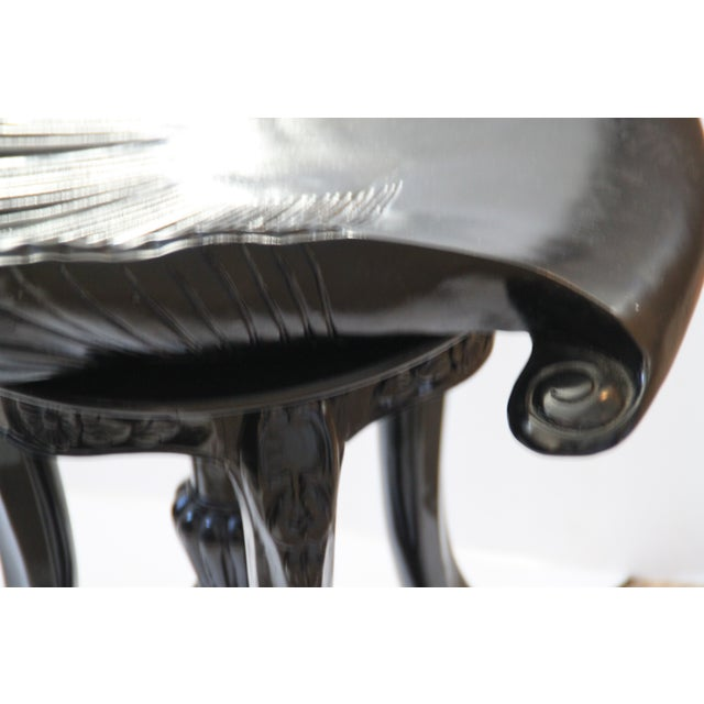 Image of Italian Carved Shell Music Stool