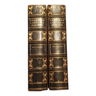 """Abraham Lincoln, 1809-1858"" Leather-Bound Books - A Pair"