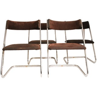 Lane Chrome Z Dining Chairs - Set of 4