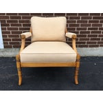 Image of Faux Bamboo Arm Chair with Lattice Back