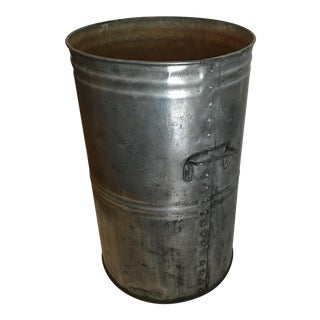Polished Galvanized English Tin Container