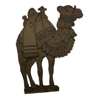 Cut Out Masonite Camel Figure