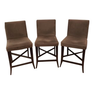 Crate & Barrel Parsons Barstools - Set of 3