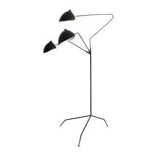 Vintage Serge Mouille Style Three-Arm Floor Lamp
